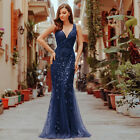 Ever-Pretty US Party Ball Evening Gown Navy Sequins Bodycon Cocktail Dress 07886 $49.99 USD on eBay