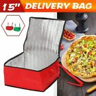 "15"" Pizza Delivery Bag Insulated Thermal Food Storage Holder Outdoor Picnic"