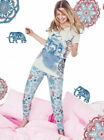 AVON Ladies Womens Short Sleeve Animal Print PJs Pyjamas Set Bottoms Size 10 12
