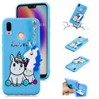 Slim 3D Cute Cartoon Soft Silicone Protective Case Cover For Huawei P10/P20 Lite
