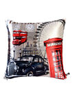 Set Of 2 Digital Print Square Waist Cushion Covers Sofa Home Décor 12