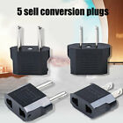 5Pcs 110V to 220V Conversion Adapter Plugs Travel US/EU Plug Adapter Converter