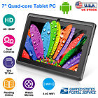 KOCASO 7'' Quad Core Android Tablet PC HD WiFi Webcam 8GB for Kids Children Gift