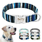 Personalised Dog Collar Nylon Custom Engraved Pet ID Name Collar for Labrador