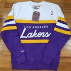 Los Angeles Lakers Mitchell & Ness NBA Men's Head Coach Crew Sweatshirt Purple on eBay