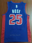 New Men's Detroit Pistons NO.25 Derrick Rose Basketball jersey shirt blue on eBay