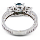 1 1/2ct Blue SI3 Round Natural Certified Diamonds 14k  Classic Engagement Ring