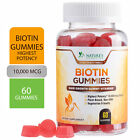 Biotin Gummies 10000mcg - Gummy Vitamin Supplement for Hair Skin $13.92 USD on eBay