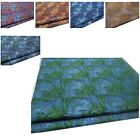 Faux Silk Brocade(Peacock Feather)Jacquard Damask Kimono Fabric Material*Bn4