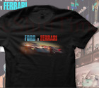 ALL NEW Vintage Ford vs Ferrari Movie Mens T Shirt Tee Shelby Cobra Mustang GT40 image
