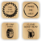 Rude Beer Coasters - Funny NOVELTY COASTERS GIFT IDEAS Dad Fathers Day Boyfriend