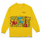 Diamond Supply Co. x Keith Haring Rhythm and Motion Long Sleeve T Shirt Yellow C