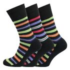 Mens Soft Cotton Rich Easy Top Cushioned Sole Non Elastic Socks 7-11 Uk
