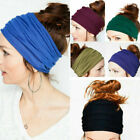 Women Yoga Sports Wide Headband Elastic Boho Hair Band Head Wrap Wristband Girls