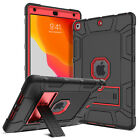 For iPad 10.2 7th Gen Hybrid Tablet Protective Case Cover+Glass Screen Protector