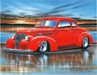 1939 Chevy Coupe Streetrod Car Art Print 11x14 Poster