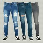 Mens New Design Super Stretch Regular Fit Skinny Ripped Frayed Jeans Trousers