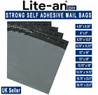 Grey Mailing Bags Extra Strong Self Seal All Sizes Postal Mail Poly Packaging