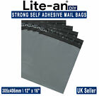 Strong Grey Mail Bags Mailing Post Postal Poly Postage Self Seal 12 x 16 inches