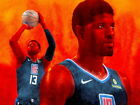 """132 Paul George - LA Los Angeles Clippers NBA Basketball 18""""x14"""" Poster on eBay"""