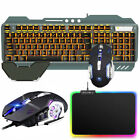 Gaming Keyboard and Mouse LED Backlit For PS4 Mechanical Feel + RGB Mouse Pad