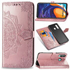 For LG Q60 Google Pixel 3A XL Datura Leather Card Slots Wallet Cover Case