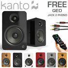 KANTO YU6 Active Bookshelf Speakers 200W Powered Bluetooth Studio Phono Pre-Amp
