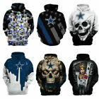 Newest Dallas Cowboys Hoodie Football Hooded Sweatshirt Sports Jacket Fan's Gift $27.89 USD on eBay