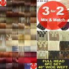 3FOR2 Clip in Hair Extensions Full Head Short Curly Wavy Straight feel real 8pcs