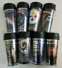U-Pick NFL Team 14oz Team Travel Tumbler Acrylic Coffee Mug Cup No Spill Lid A43 image