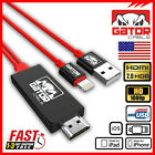 Lightning To Hdmi Hdtv Av Cable Adapter Iphone 6 6s 7 8 Plus X Xs Xr 11 Pro Max