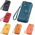 Women Leather Wallet Large Capacity Clutch Purse Card Phone Holder Zip Handbag image
