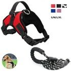 Dog Harness Large Breed Leash Set Adjustable Heavy Duty No Pull Reflective 2PCS