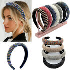 Baroque Women Full Crystal Headband Shiny Padded Bead Hairband Hair Accessories