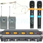 New G900 UHF 4x100 Channel Wireless Microphone System Handheld Headset Lapel Mic