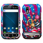 Two Piece Hard Snap on Design Protective Case for Motorola MB855 Photon 4G