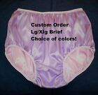 Custom Made Double Satin Panties for Men Ladies Briefs Lg/Xlg Choice of colors