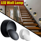 AUGIENB LED Wall Lamp 360 Degree Rotation Adjustable Creative Round Warm White