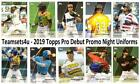 2019 Topps Pro Debut Promo Night Uniforms Insert Set * Pick Team * See Checklist on Ebay