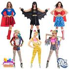 DC Womens Costumes Harley Quinn Super Girl Bat Wonder Woman Fancy Dress Up