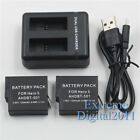 For GoPro Hero 7 Black Hero 5 6 Black AHDBT-501 AABAT-001 Battery + Dual Charger