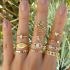 Vintage Bohemian Women Gold Midi Finger Ring Knuckle Rings Jewelry