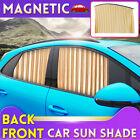 Universal Car Sun Shade Gold Front/Rear Magnet Track Adsorption Easy Instal