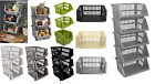 18/35cm Plastic Stacker Baskets Fruit,Vegetable Tidy Storage Holder Rack Caddy