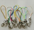 10x Lanyard Strap Cord Lobster Clasp Rope Key Chain Hook Mobile Set Charm Holder