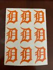 Detroit Tigers Old English D Decal Vinyl (Qty 9) on Ebay