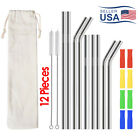 Reusable Stainless Steel Metal Drinking Straws for 30oz Yeti Rtic Tumblers USA
