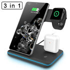 15W 3 in 1 QI Wireless Charger Fast Charging Station Dock Stand For LG V60 ThinQ