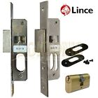 Lince Mortice Narrow Stile Dead Lock With Small Oval Cylinder UPVc
