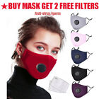 Kyпить Reusable Mask Mouth Cotton Face Cover Respirator with 2pc PM2.5 Mask Filter Pads на еВаy.соm